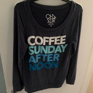 Chaser med coffee crew neck pullover navy